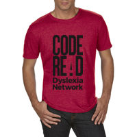 CodeREaD Mens Tri-blend Sports Tee. Black Logo Thumbnail