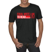EQUAL WRITE TO READ Tri-blend Mens Sports Tee Thumbnail