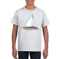 Youth Gildan Heavy Cotton White T Shirt Thumbnail